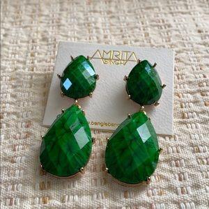 Amrita Singh green earring